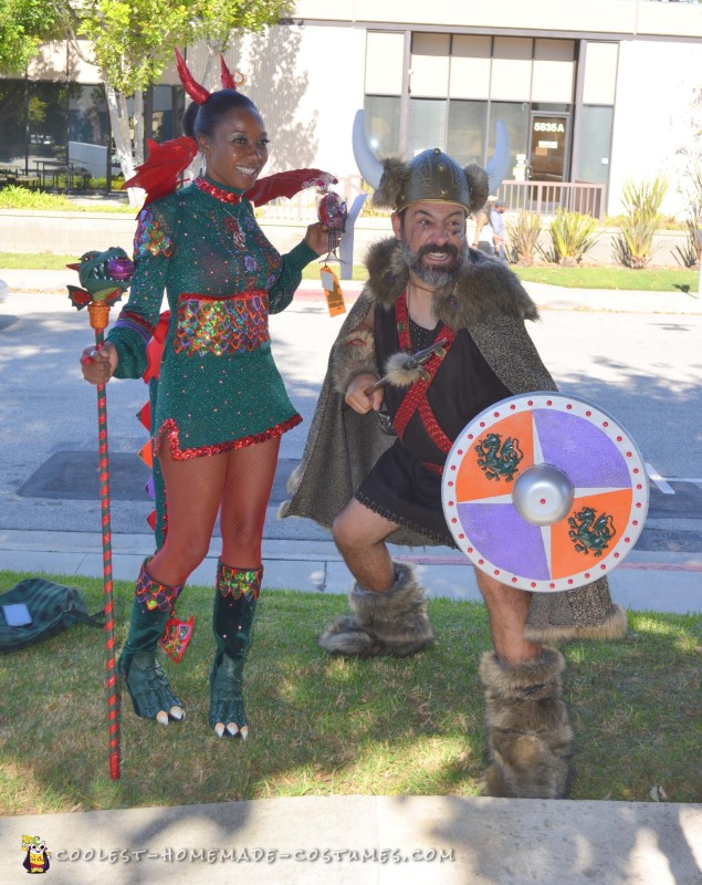 Viking and Dragon Love Couple Costume