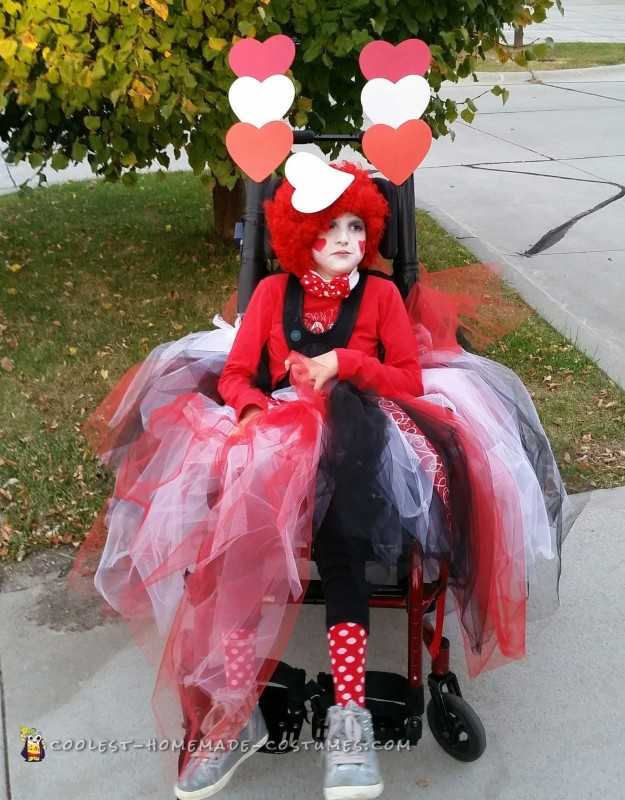 Wheelchair Princess of Hearts Costume with Heart Escort