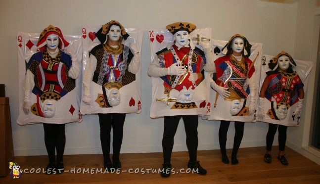Winning Poker Hand Family Costumes