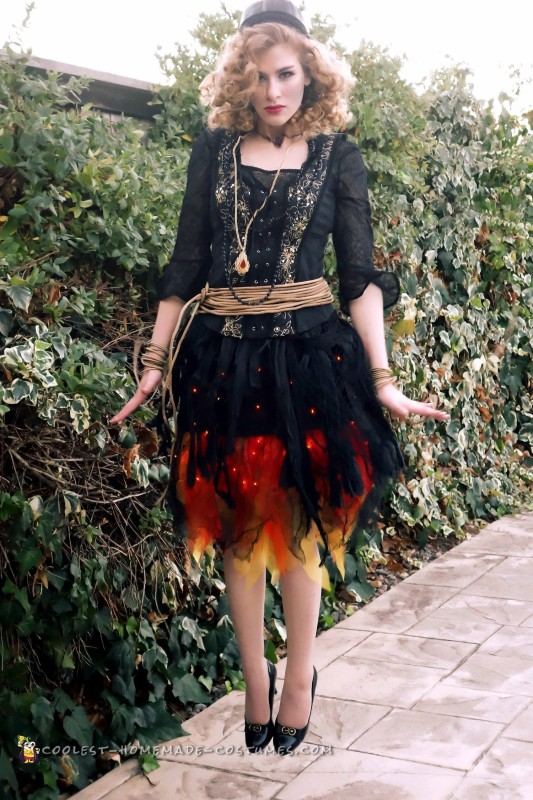 Blazing Witch on Fire Costume - 2