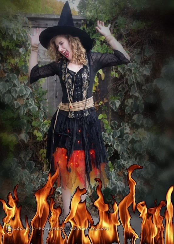 Blazing Witch on Fire Costume - 4