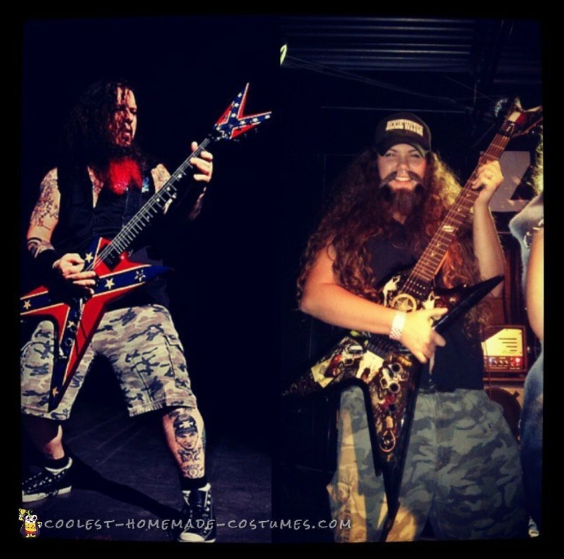 the real Dimebag on the left and the Kate Dimebag on the right!