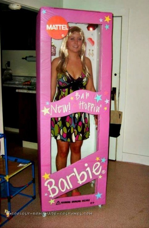 Bar Hopping Barbie in a Box Costume
