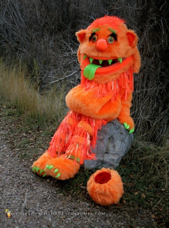 Big Orange Homemade Monster Costume - 1