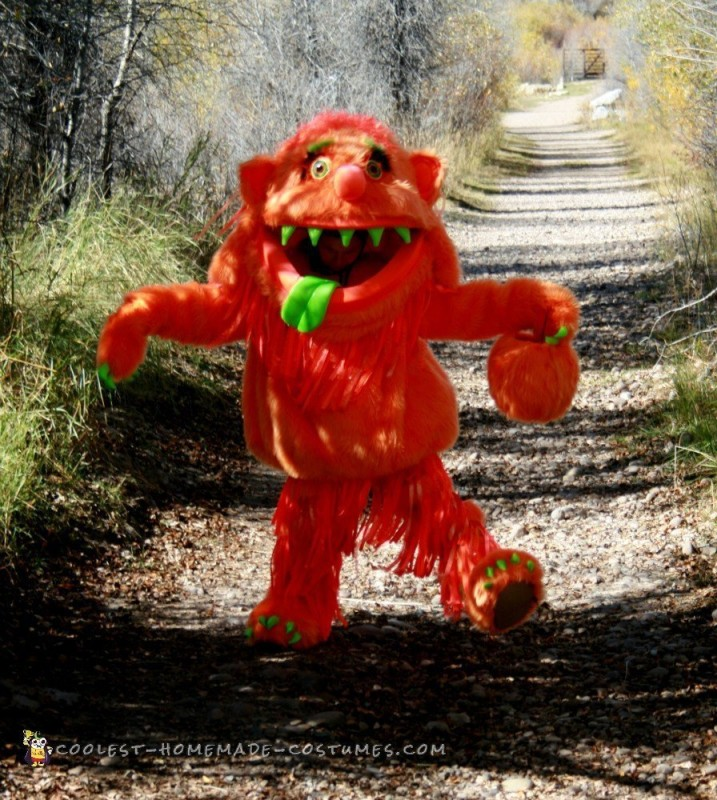 Big Orange Homemade Monster Costume - 2