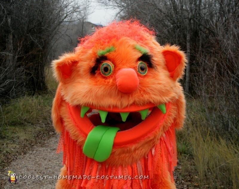 Big Orange Homemade Monster Costume - 3