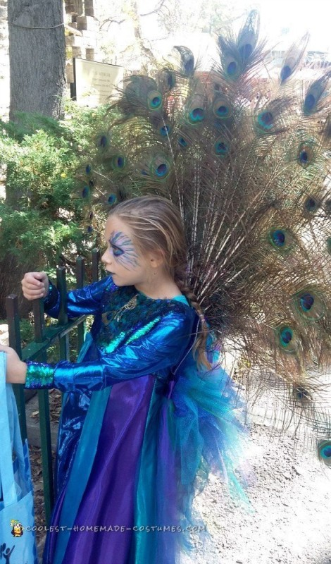Coolest Recycled Peacock Halloween Costume - 2
