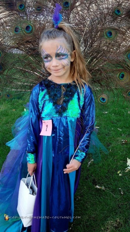 Coolest Recycled Peacock Halloween Costume - 1