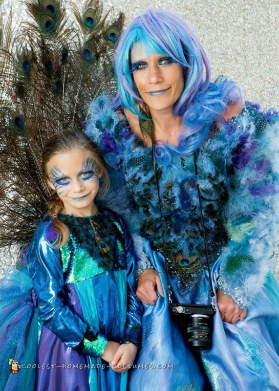 Coolest Recycled Peacock Halloween Costume