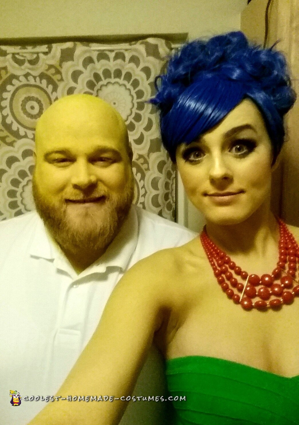 Couple Homer and Marge Simpson Costumes