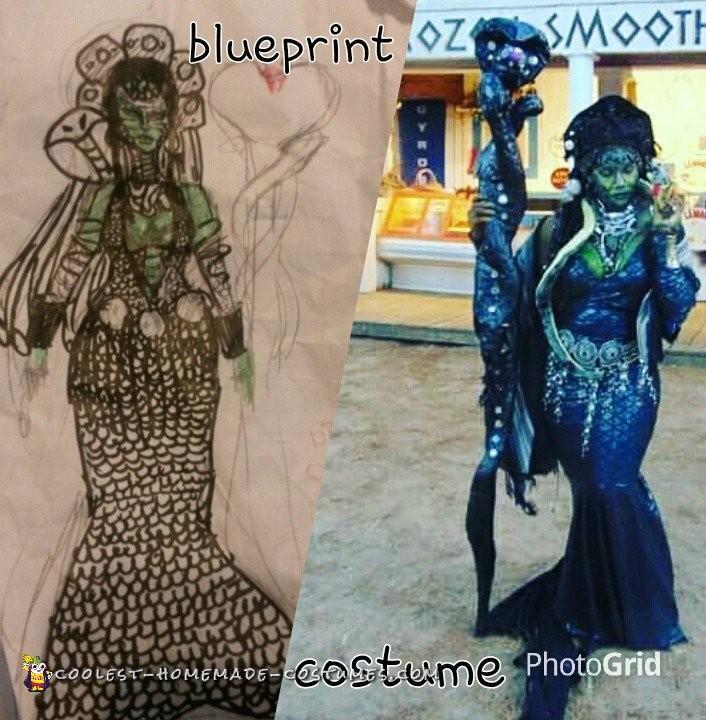 Epic Homemade Medusa Costume