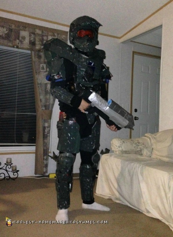 Dirt Bike Gear Becomes Halo Master Chief Armor - 1