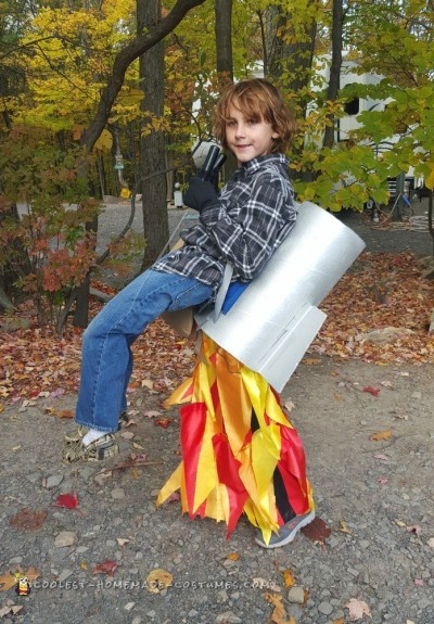 Optical Illusion Jet Pack Costume