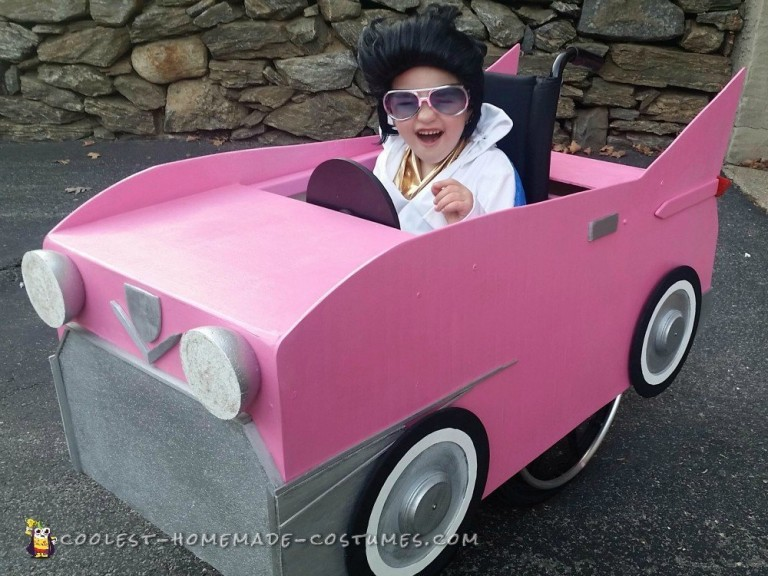 Pink Cadillac Elvis Wheelchair Halloween Costume