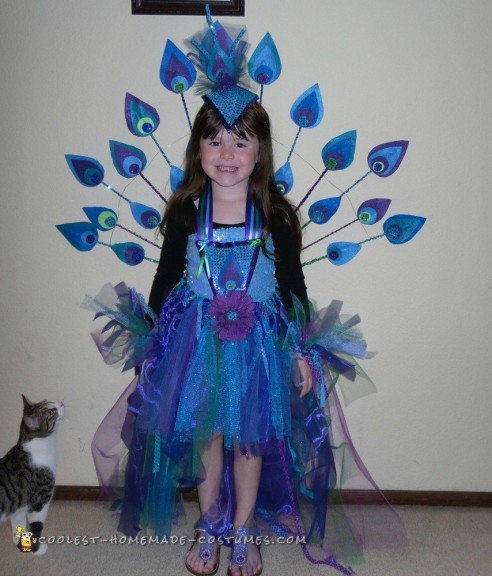 Pretty Homemade Peacock Costume