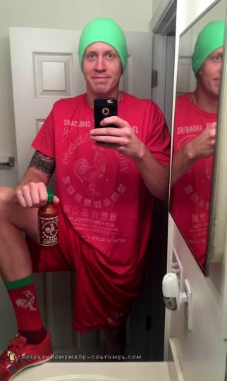 Siracha Bottle Hot Sauce Costume