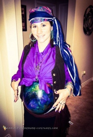 Unique Pregnant Belly Fortune Teller Costume