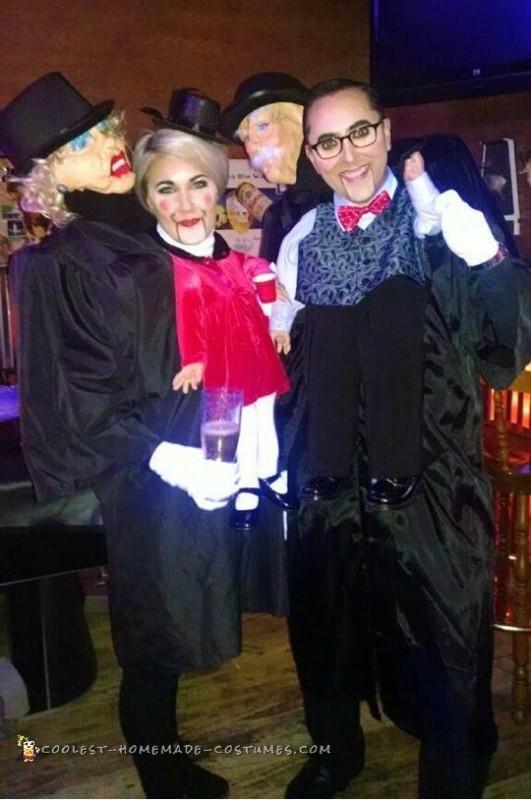 Couples Optical Illusion Ventriloquist Dummy Costume