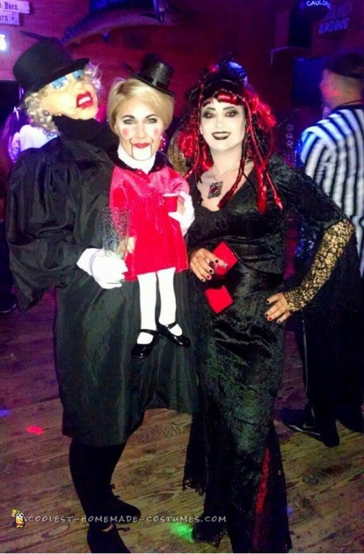 Couples Optical Illusion Ventriloquist Dummy Costume - 2
