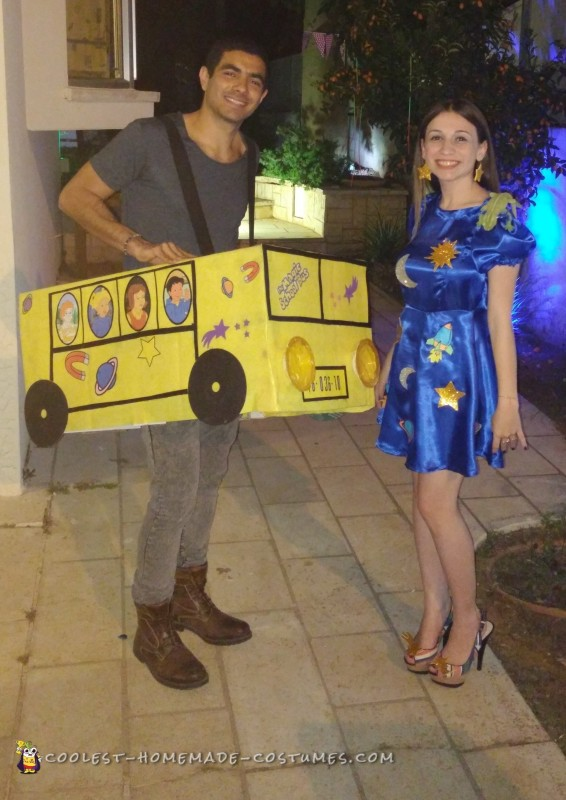 The Magic School Bus Homemade Couple Costume