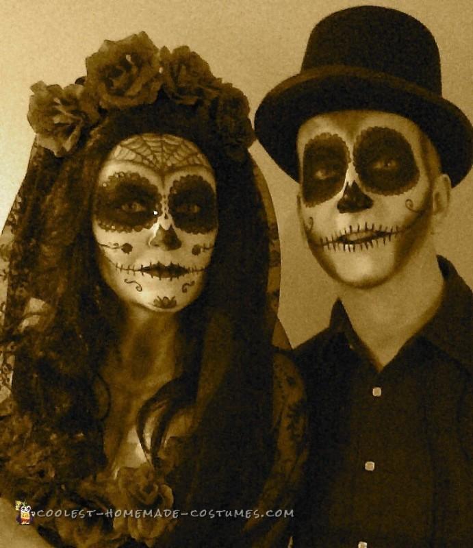 Dias de los Muertos Couple Costume - 1