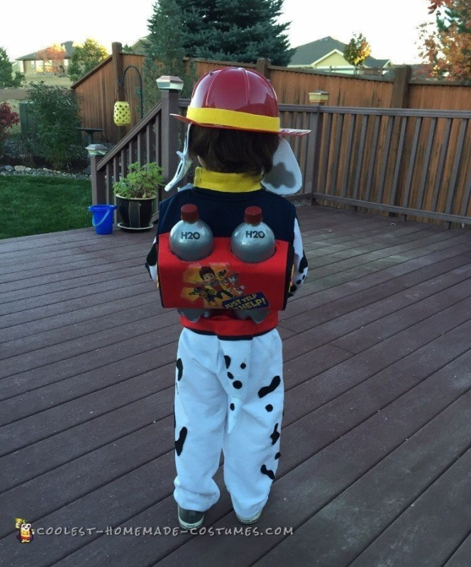 Cute DIY Paw Patrol Marshall Costume - 1