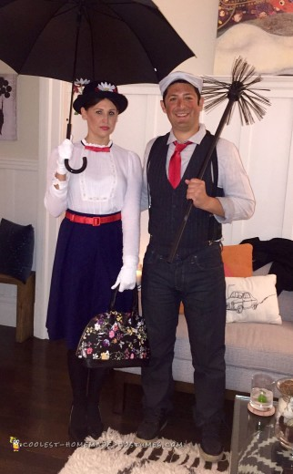 Cool Mary Poppins and Bert Couple Costumes