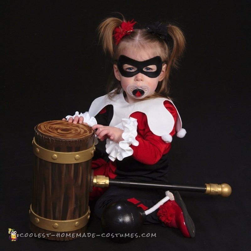 Cosplay Inspired Harley Quinn and Robin Toddler Costumes - 1