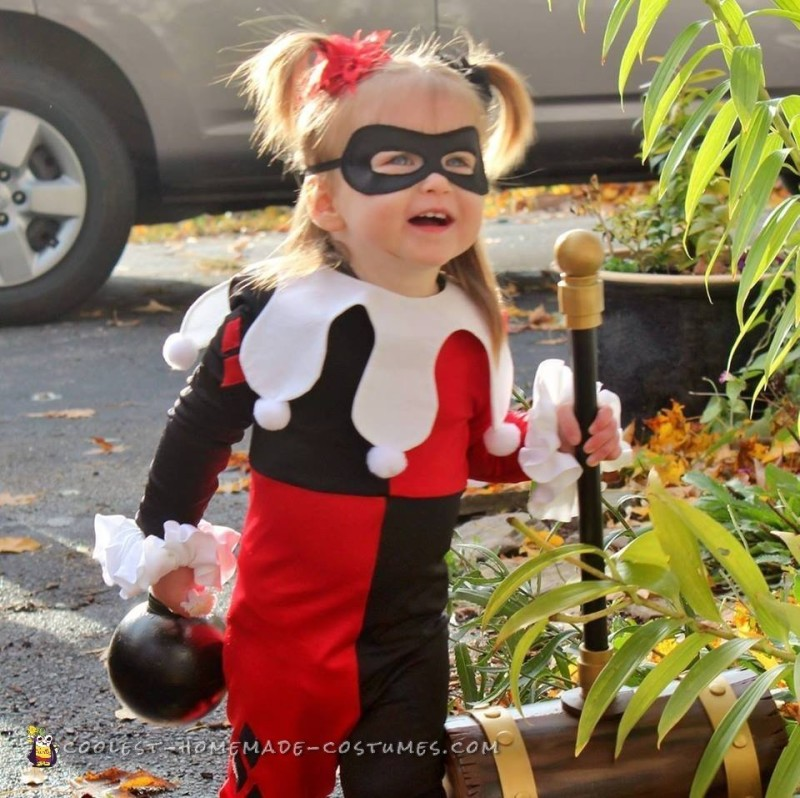 Cosplay Inspired Harley Quinn and Robin Toddler Costumes - 2
