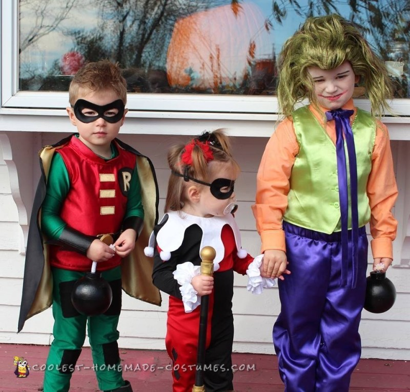 Cosplay Inspired Harley Quinn and Robin Toddler Costumes - 6