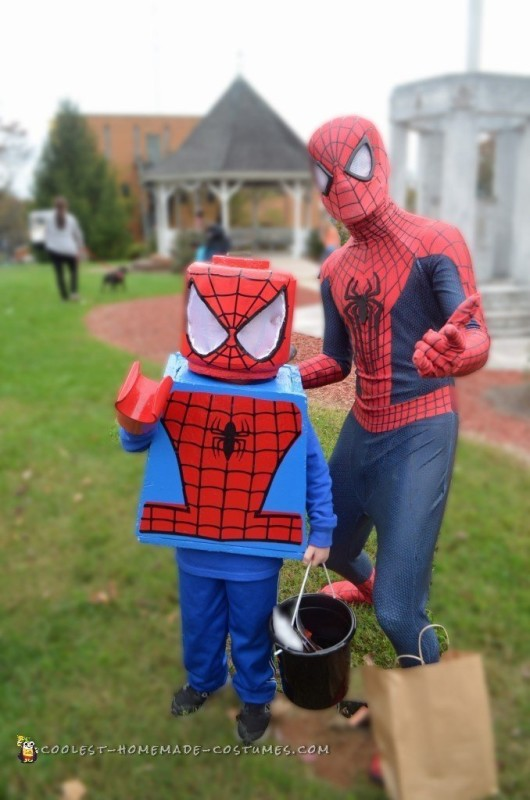 Posing with Spiderman!