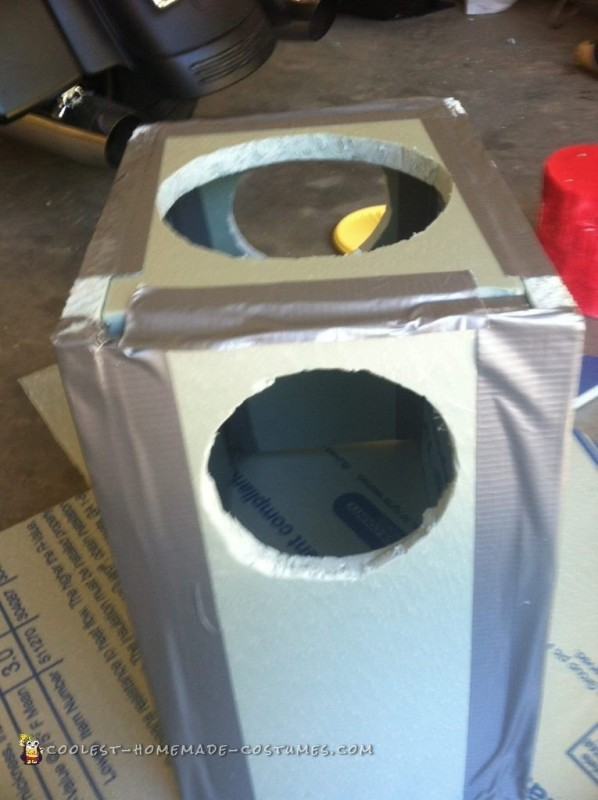 Torso taped up and ready for gluing