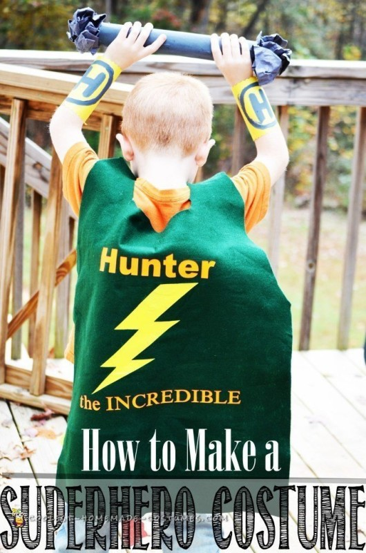 Easy DIY Superhero Costume!