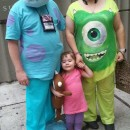 Adorable Family Homemade Monsters Inc Costumes