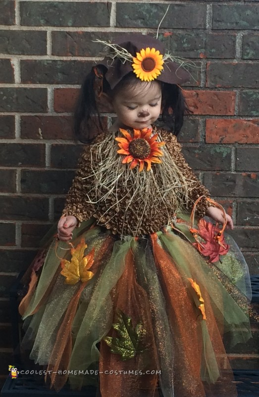 Cutest Homemade Toddler Scarecrow Costume