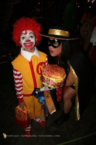Amazing DIY Fast Food Group Costume