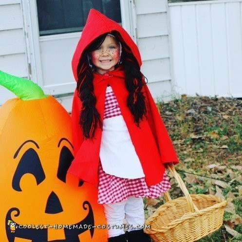 Cutest Homemade Little Red Riding Hood Costume
