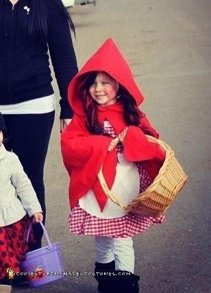 Cutest Homemade Little Red Riding Hood Costume