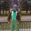 Mardi Gras Inspired Peacock Man Costume