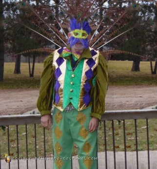 Mardi Gras Inspired Peacock Man Costume