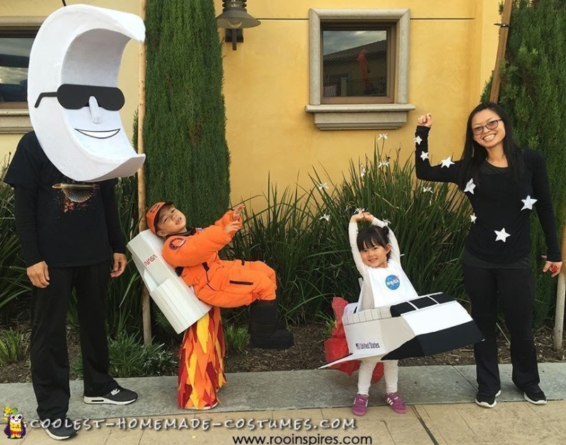 spaced themed family costumes