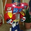 Awesome Homemade Optimus Prime Costume