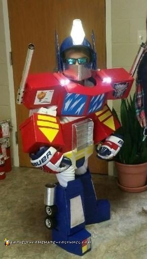 Awesome Homemade Optimus Prime Costume