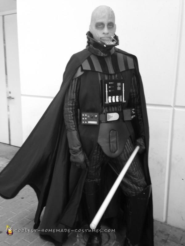 Coolest Darth Vader Unmasked Costume - 4