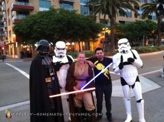 Coolest Darth Vader Unmasked Costume