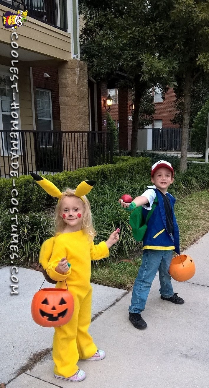 coolest homemade pokemon halloween costumes for kids: ash ketchem