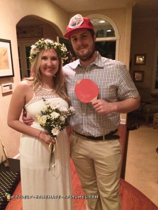Homemade Forrest Gump and Jenny Costumes