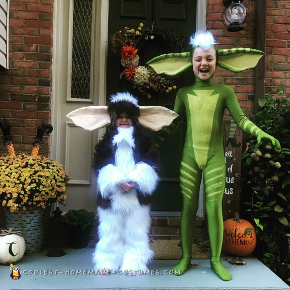 Adorable Gizmo and Stripe Gremlins Costumes