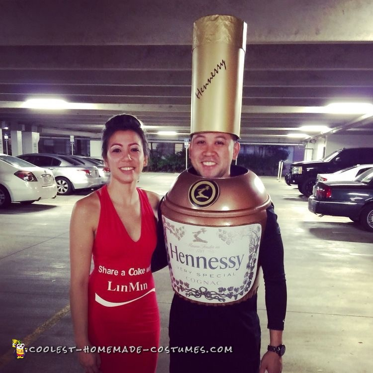 Coolest Hennessy and Coke Couple Costume