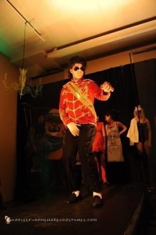 Cool Homemade Red Jacket Michael Jackson Costume